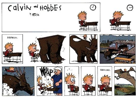 calvin+daydream+cartoon