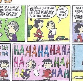 Charles Schulz on New Year's Resolutions