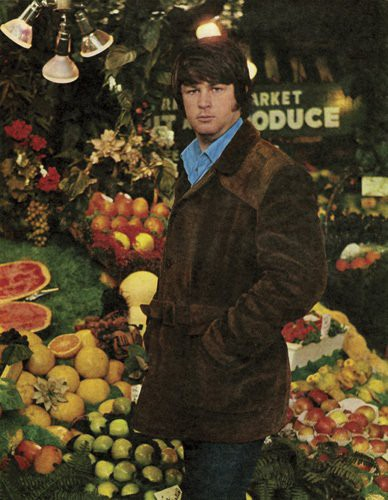 BW contemplating some Veg-a-Tables back in 1967