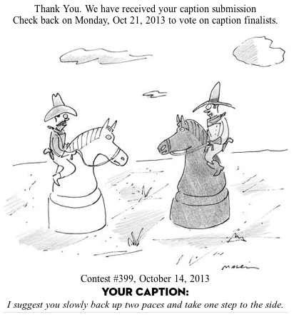 On Being A Finalist In The New Yorker S Cartoon Caption Contest Mockingbird