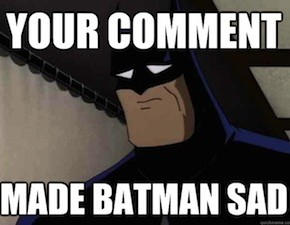 Confessions of a Sad, Tweeting Batman On Word-Porn