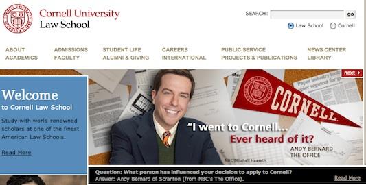 Cornell Law School Andy Bernard The Office