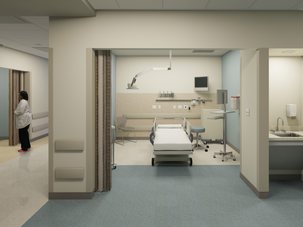 SGH Rendering Interior ED Room