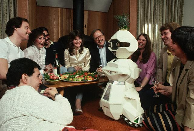 Robot Butler at a Party