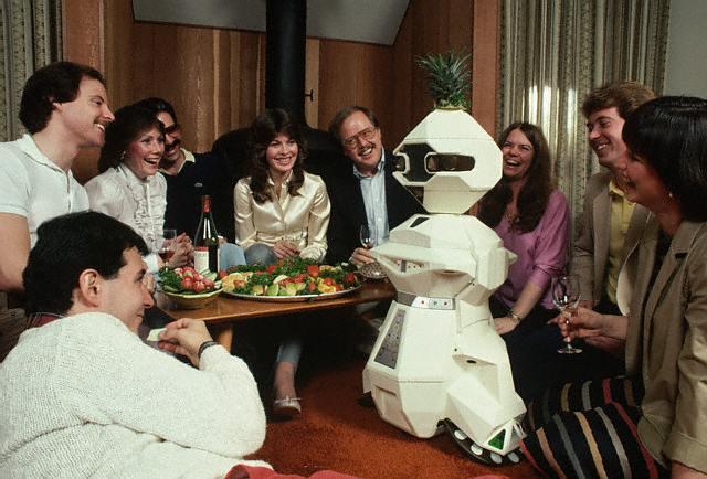 Robot Butler at a Party