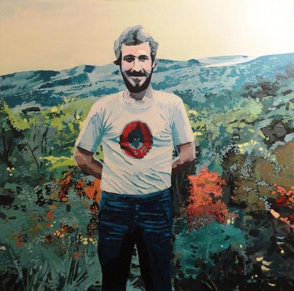 "John Davis, ""Portrait Of The Artist's Father (From A Polaroid, 1979)"", 36"" x 36"", acrylic on canvas, 2014."