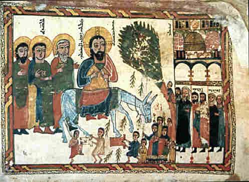 syriac triumphal entry icon