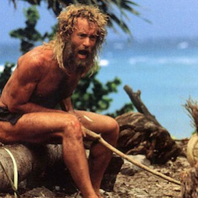 CAST AWAY, US 2000 TOM HANKS CASTAWAY US 2000 TOM HANKS Date 2000, Photo by: Mary Evans/C20TH FOX / DREAMWORKS/Ronald Grant/Everett Collection(10305969)