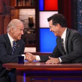 Colbert and Biden: Faith Sees Best in the Dark