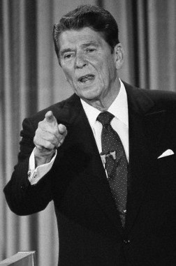 Ronald Reagan Pointing His Finger