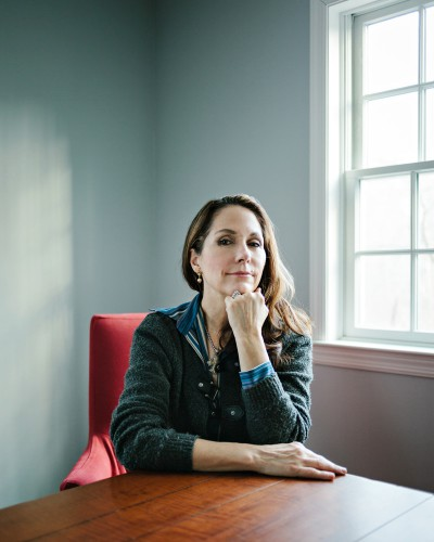 Mary Karr, American poet, essayist and memoirist. Photographed at home in Scarsdale, NY on January 17th 2014. CREDIT: Axel Dupeux for The Wall Street Journal Weekend Confidential - Mary Karr