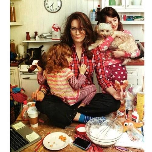 tina fet motherhood