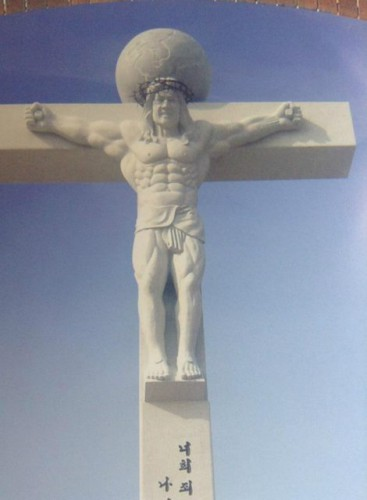 A Korean church likes its Jesus buff!