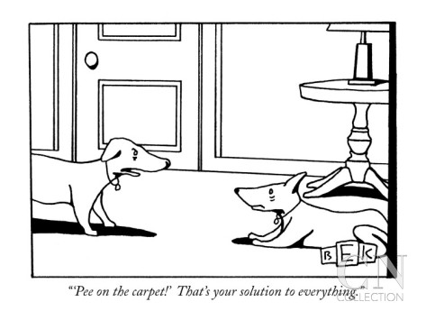 bruce-eric-kaplan-pee-on-the-carpet-that-s-your-solution-to-everything-new-yorker-cartoon
