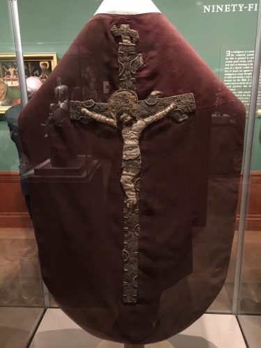 The chasuble in question
