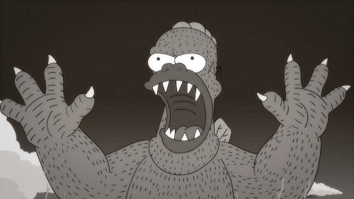 """THE SIMPSONS: In the annual fright fest Halloween episode, Grandpa Simpson takes Bart and Lisa to perform the annual sacrifice to a terrible monster in the all-new """"Treehouse of Horror XXVI"""" episode of THE SIMPSONS airing Sunday, Oct. 25 (8:00-8:30 PM ET/PT) on FOX. THE SIMPSONS ™ and © 2015 TCFFC ALL RIGHTS RESERVED."""