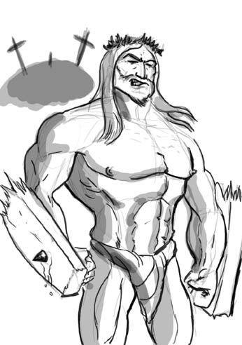 muscle-jesus-broken-cross-art