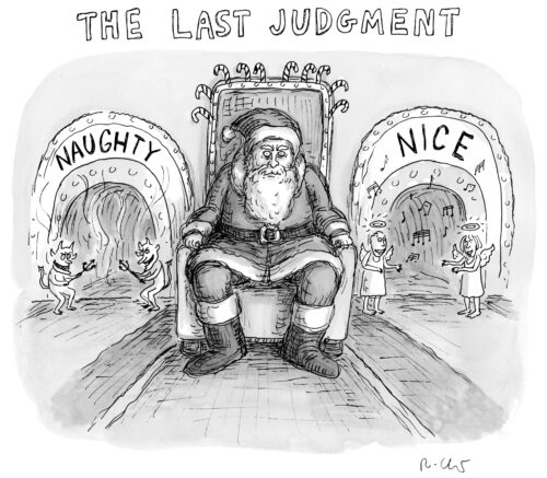 Naught-nice Santa Claus